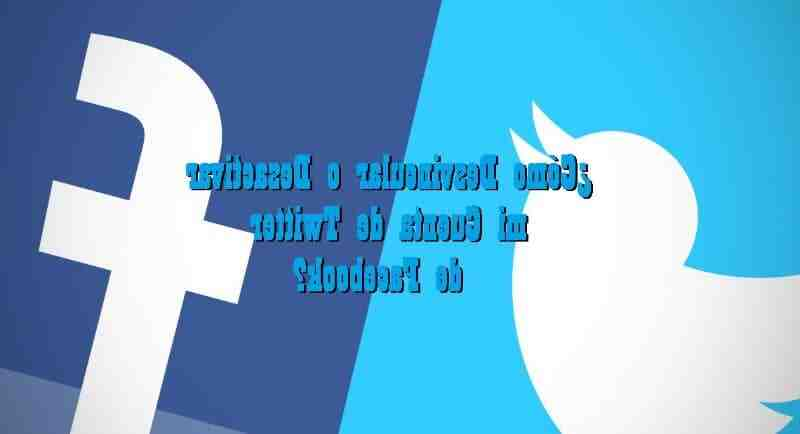 How to unlink twitter from facebook
