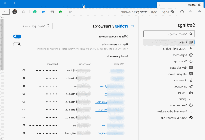 Where does Windows 10 store passwords?